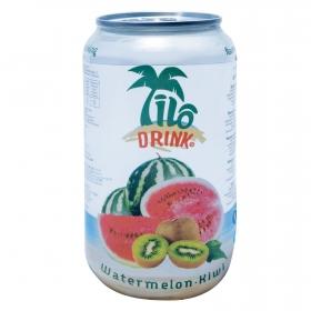 Bebida refrescante con gas sabor sandía y kiwi Ilo Drink lata 33,5 cl.