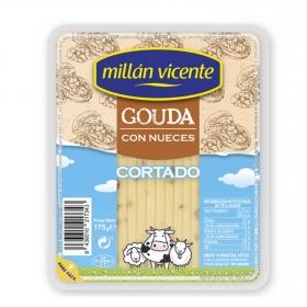 Queso gouda con nueces ya cortado Millan Vicente 175 g
