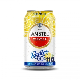 Cerveza Amstel 0,0 sin alcohol Radler con limón lata 33 cl.