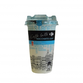 Café latte macchiatto Carrefour light sin gluten 250 ml.