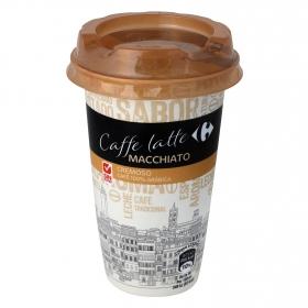 Café latte macchiatto Carrefour sin gluten 250 g.