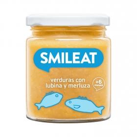 Tarrito Verduras con Lubina y Merluza Ecológico Smileat 230 gr