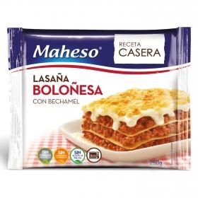 Lasaña boloñesa con bechamel Maheso 250 g.
