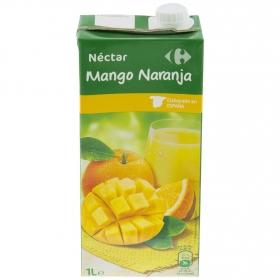 Néctar de mango y naranja Carrefour brik 1 l.