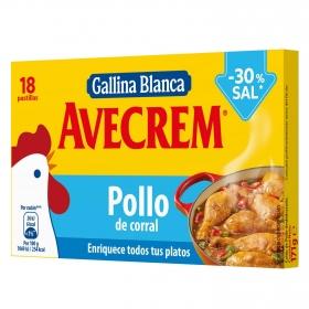 Caldo de pollo - 30% sal Avecrem 18 pastillas