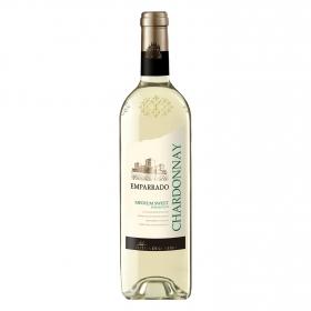 Vino semidulce blanco chardonnay Emparrado botella 75 cl.