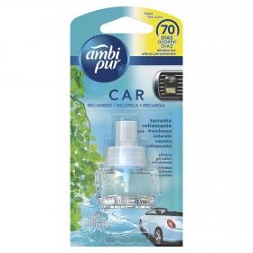 Ambientador para coche aqua frescor natural recambio Ambipur 1 ud.