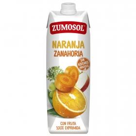 Zumo de naranja y zanahoria Zumosol exprimido brik 1 l.
