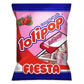 Caramelo con palo sabor fresa Lolipop Fiesta 7 ud.