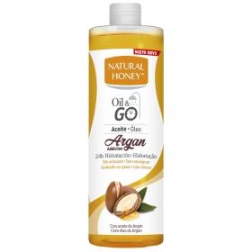 Aceite corporal Elixir de Argan bajo la ducha Natural Honey 300 ml.