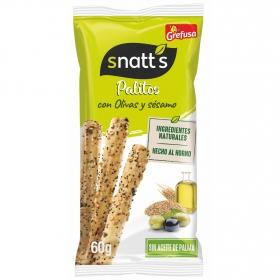 Palitos de trigo con olivas Grefusa Snatt's 60 g.