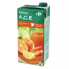 Zumo de naranja, limón y zanahoria Carrefour brik 1 l.