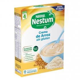 Papilla infantil desde 4 meses de arroz sin azúcar añadido Nestlé Nestum sin gluten y sin aceite de palma 250 g.