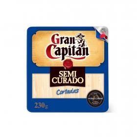 Queso semicurado mezcla cortaditas Gran Capitán cuña 1/8, 230 g