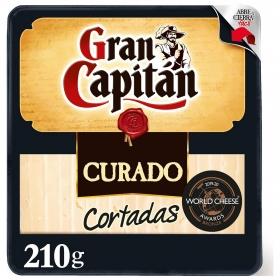 Queso curado mezcla ya cortado Gran Capitán cuña de 210 g