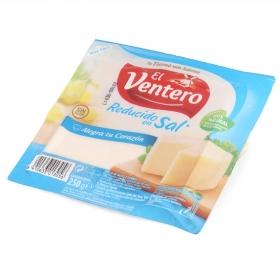 Queso tierno bajo en sal cuña El Ventero 250 g