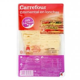 Queso emmental loncheado Carrefour sin lactosa 150 g.