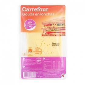 Queso gouda loncheado Carrefour sin lactosa 150 g.