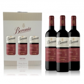 LOTE 76: 3 botellas D.O. Ca. Rioja Beronia tinto crianza 75 cl.