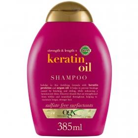 Champú aceite de keratina OGX 385 ml.