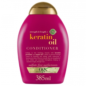 Acondicionador aceite de keratina OGX 385 ml.