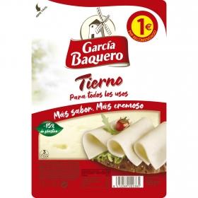 Queso en lonchas tierno García Baquero 80 g.