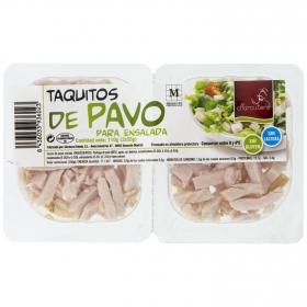 Taquitos de pavo para ensalada El Charcutero sin gluten y sin lactosa pack de 2 unidades de 55 g.