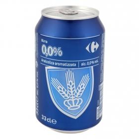 Cerveza rubia Carrefour sin alcohol lata 33 cl.