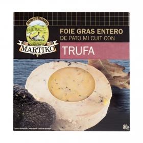Foie gras entero de pato con trufa Martiko 80 g.