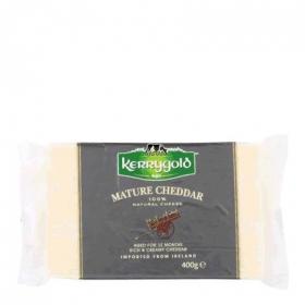 Queso cheddar blanco curado Kerrygold 400 g