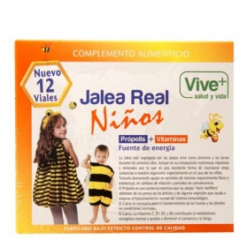 Complemento alimenticio Jalea real niños Vive Plus 12 viales