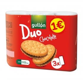 Galletas rellenas de crema de chocolate Gullón 435 g.