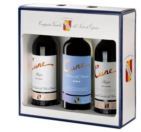 Estuche 3 Bot. (2+1) D.O. Rioja Crianza+ D.O. Ribera Del Duero Roble Cune Tinto