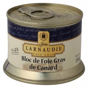 Bloc de foie gras de pato Larnaudie 130 g.