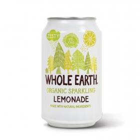 Refresco de limón ecológico Whole Earth con gas lata 33 cl.