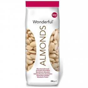 Almendras crudas sin piel Wonderful 200 g.