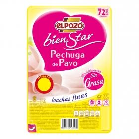 Pechuga de pavo lonchas sin grasa El Pozo Bienstar sin gluten y sin lactosa 85 g.