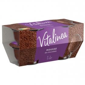 Mousse de chocolate Danone Vitalinea pack de 4 unidades de 60 g.