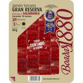 Jamón serrano Gran Reserva Boadas 80 g.