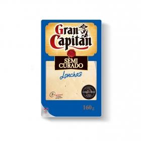 Queso semicurado en lonchas Gran Capitán 160 g.