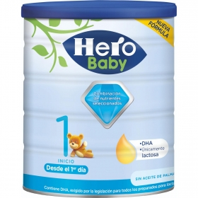 Leche infantil para lactantes desde el primer día en polvo Hero Baby Nutrasense 1 lata 800 g.
