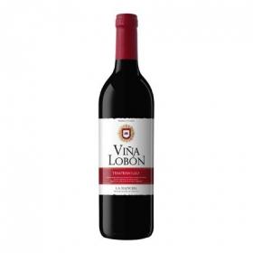 Vino D.O. Mancha tinto tempranillo Viña Lobón 75 cl.