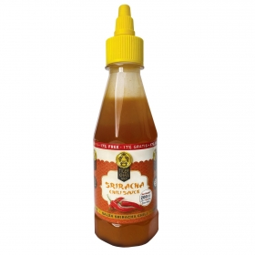 Salsa sriracha chili Tiger Khan botella 200 ml.
