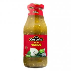 Salsa verde La Costeña botella 250 g.