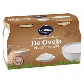 Yogur con leche de oveja natural Goshua pack de 2 unidades de 125 g.