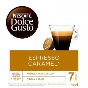 Café espresso caramel en cápsulas Nescafé Dolce Gusto 16 unidades de 5,2 g.