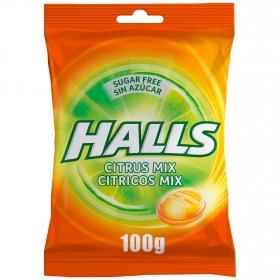 Caramelos sabor cítrico Halls 100 g.