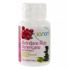 Arándono rojo americano con vitamina C Sanon 30 comprimidos.