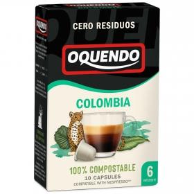 Café Colombia en cápsulas Oquendo compatible con Nespresso 10 unidades de 5 g.