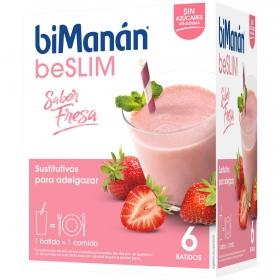 Batido sustitutivo sabor fresa Bimanán 5 ud.